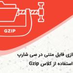 فشرده سازی فایل متنی در سی شارپ با استفاده از کلاس Gzip