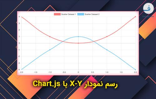 رسم نمودار X-Y با Chart.js